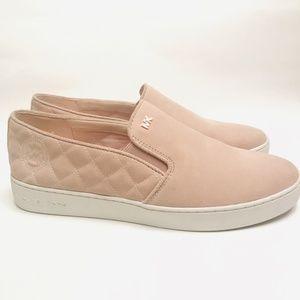 Michael Kors Keaton Blush Suede Slip-On Sneakers